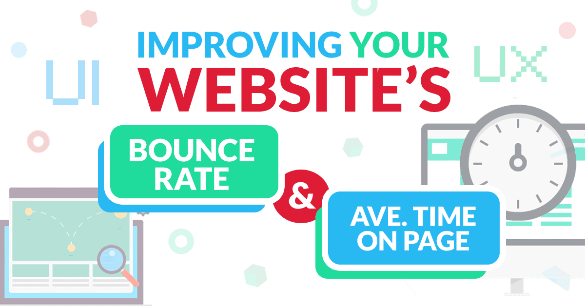 improving your website's bounce rate and average time on page